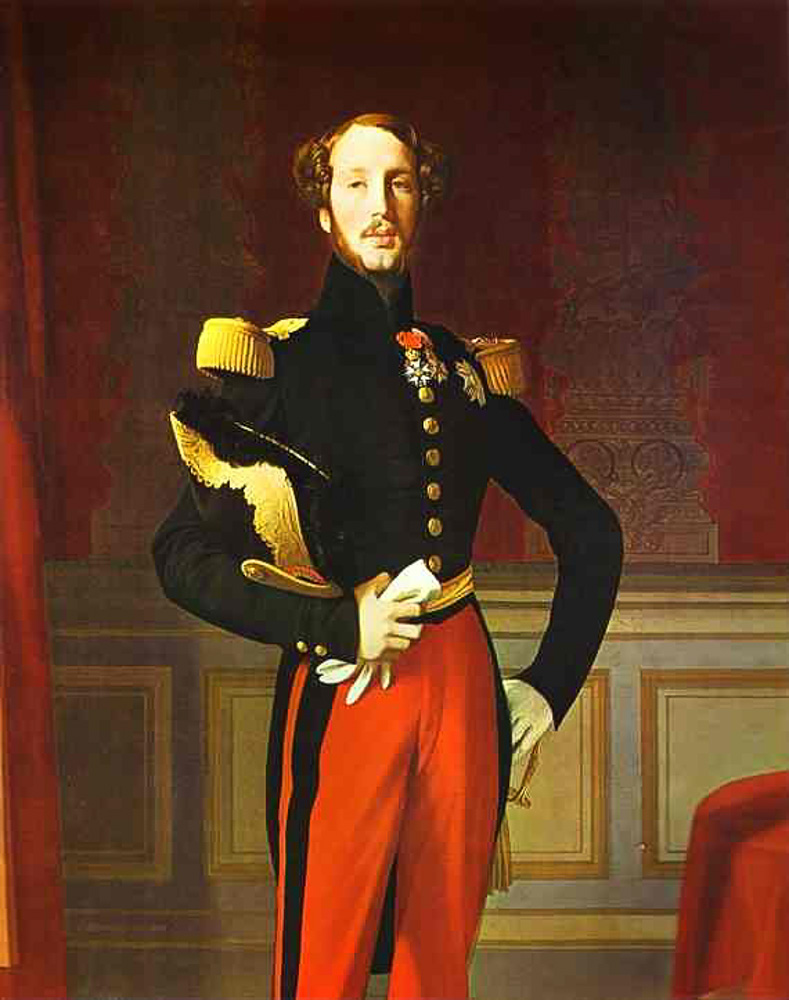 Jean-Auguste-Dominique Ingres. Portrait of Ferdinand-Philippe, Duke of Orleans. Collection du Comte de Paris, Louveciennes, France